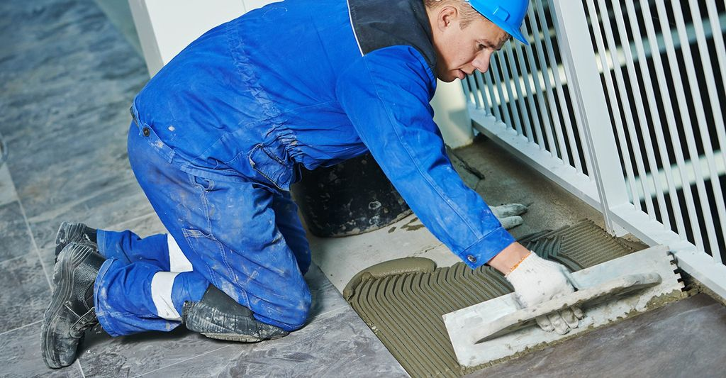 A tile installer in Palmdale, CA