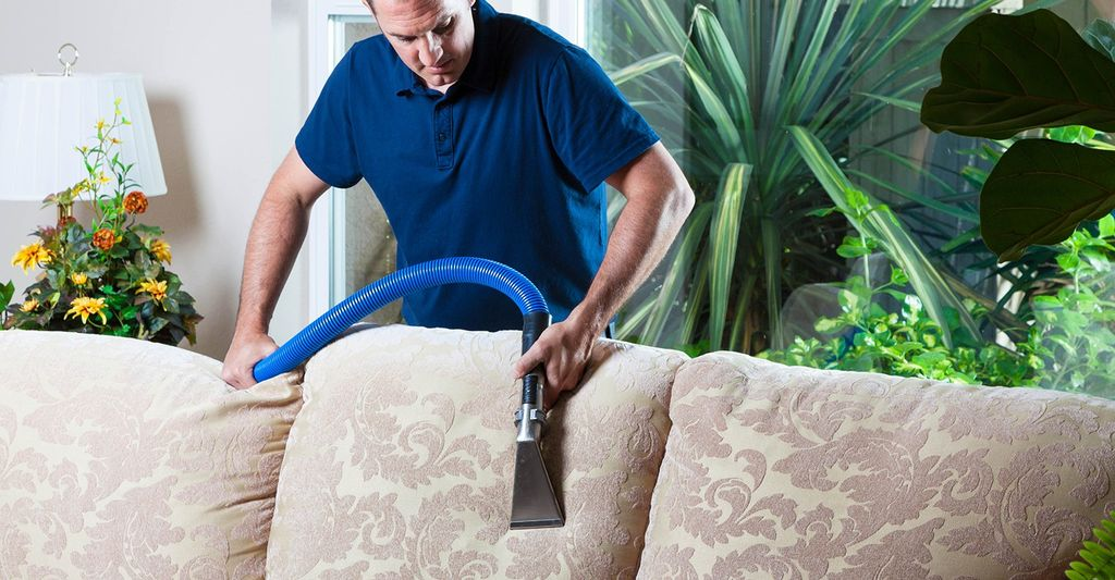 A furniture steam cleaner in Riverside, CA