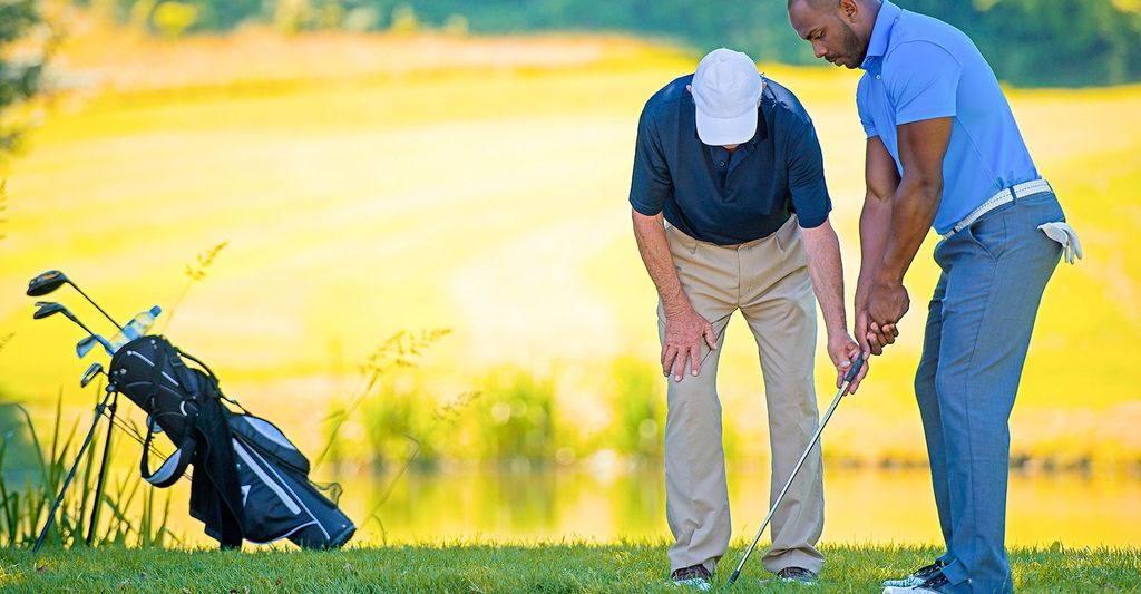 A golf instructor in Hendersonville, TN