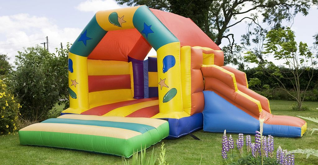 A jump house rental in Garland, TX