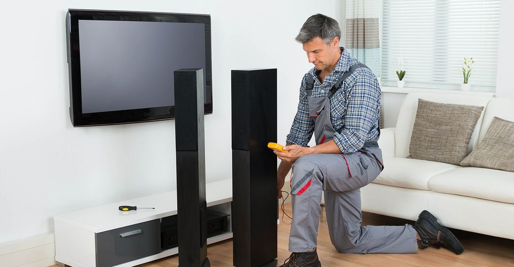 A surround sound system installer in Jersey City, NJ