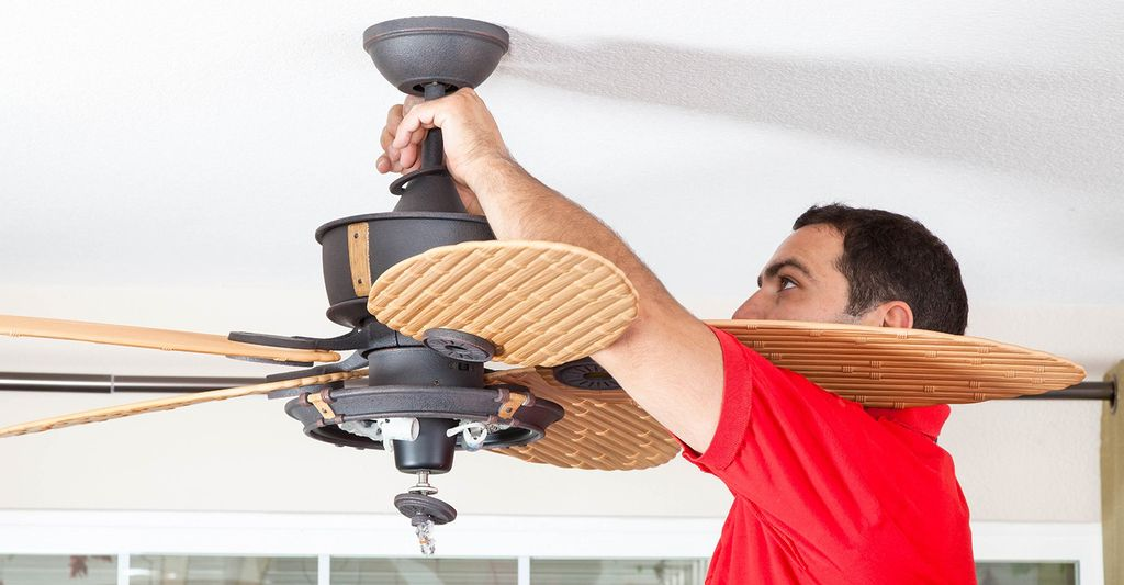 A ceiling fan repair professional in Milford, CT