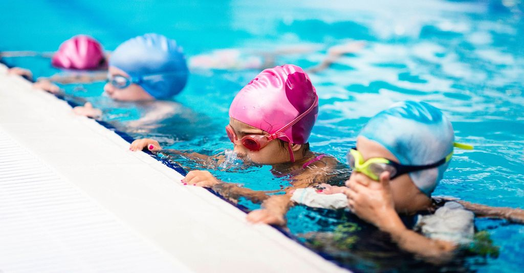 A swimming instructor in Paramus, NJ