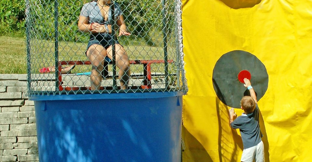A dunk tank renter in Brooklyn, NY