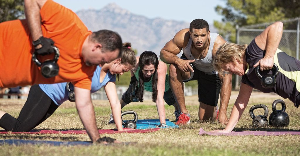 A boot camp instructor in Poway, CA