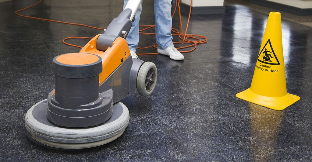 A floor polisher in Riverside, CA