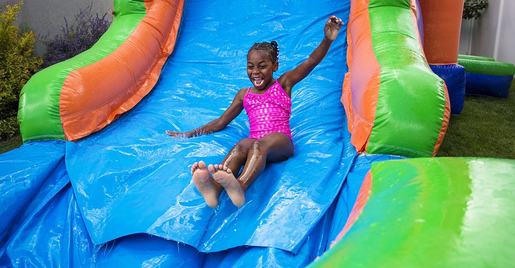An inflatable water slides for rent in Freeport, NY