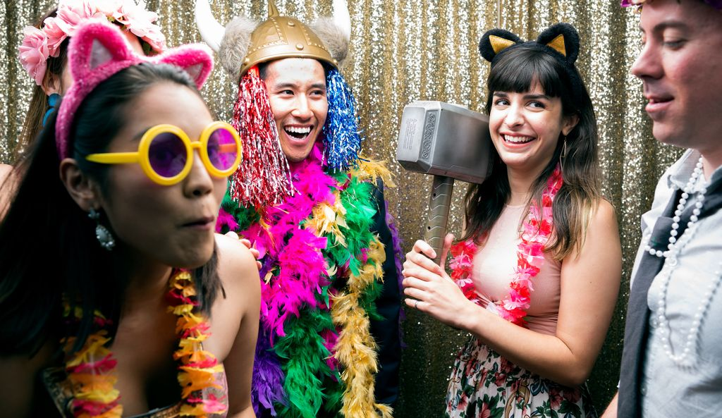A party photo booth in Hammond Park, GA