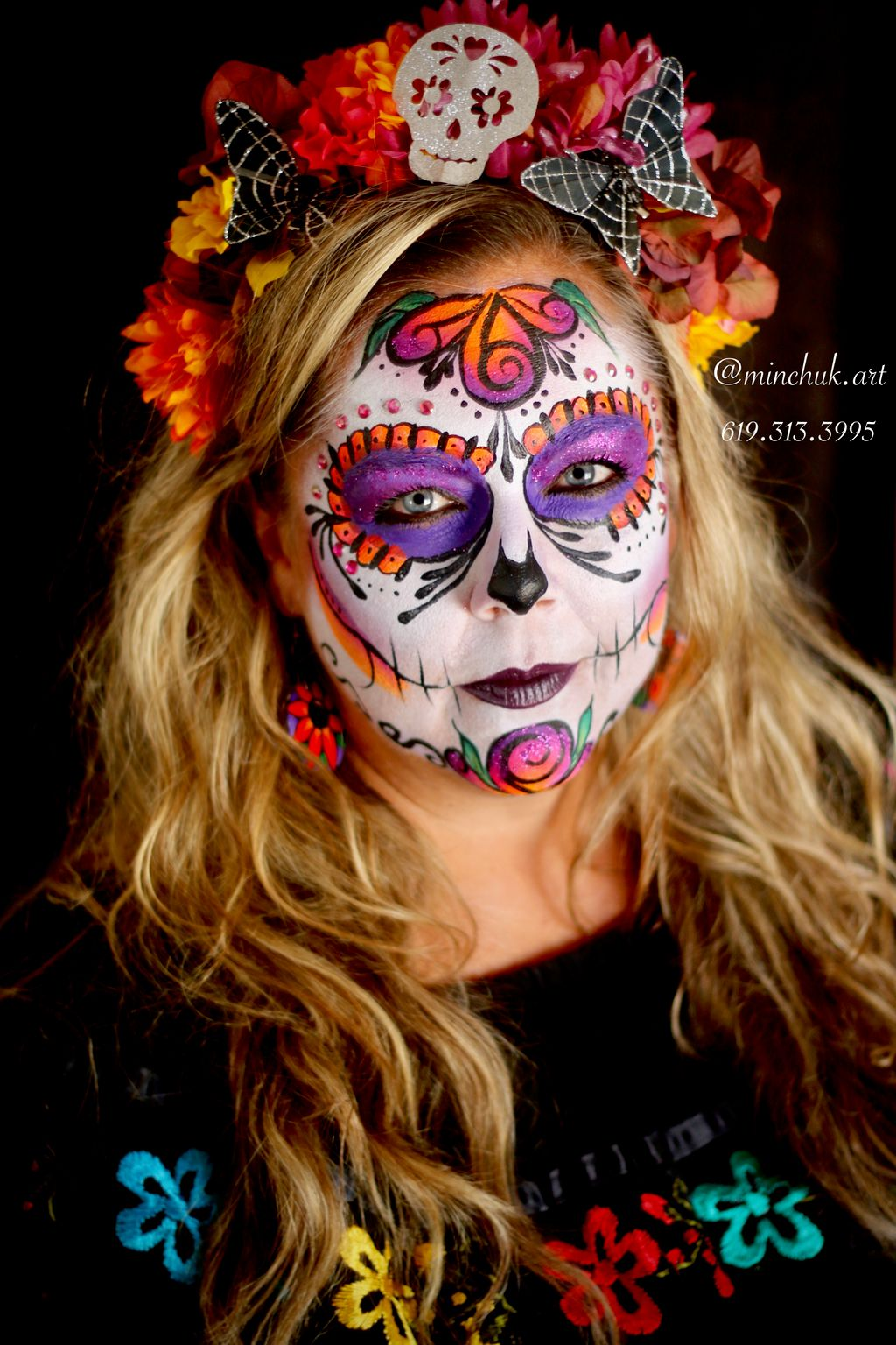 Full Face Sugar Skull
