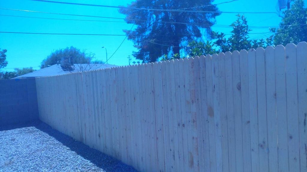 Wood fence placement