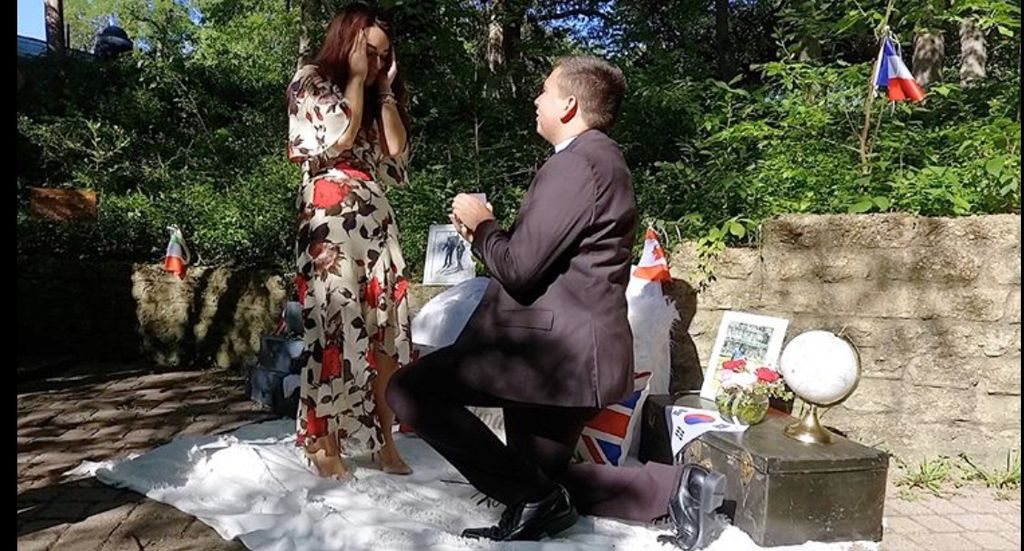 Will You Come Travel With Me Engagement Proposal