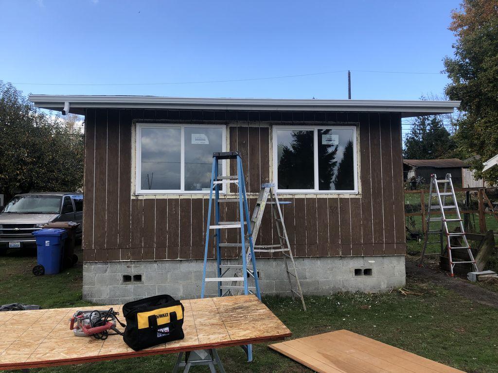 New windows siding