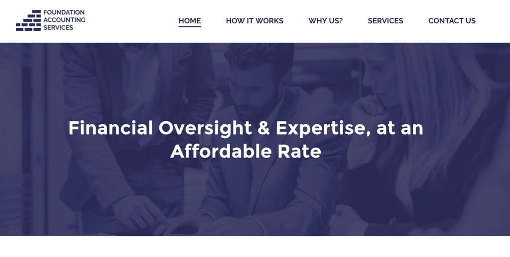 Accounting firm's new website