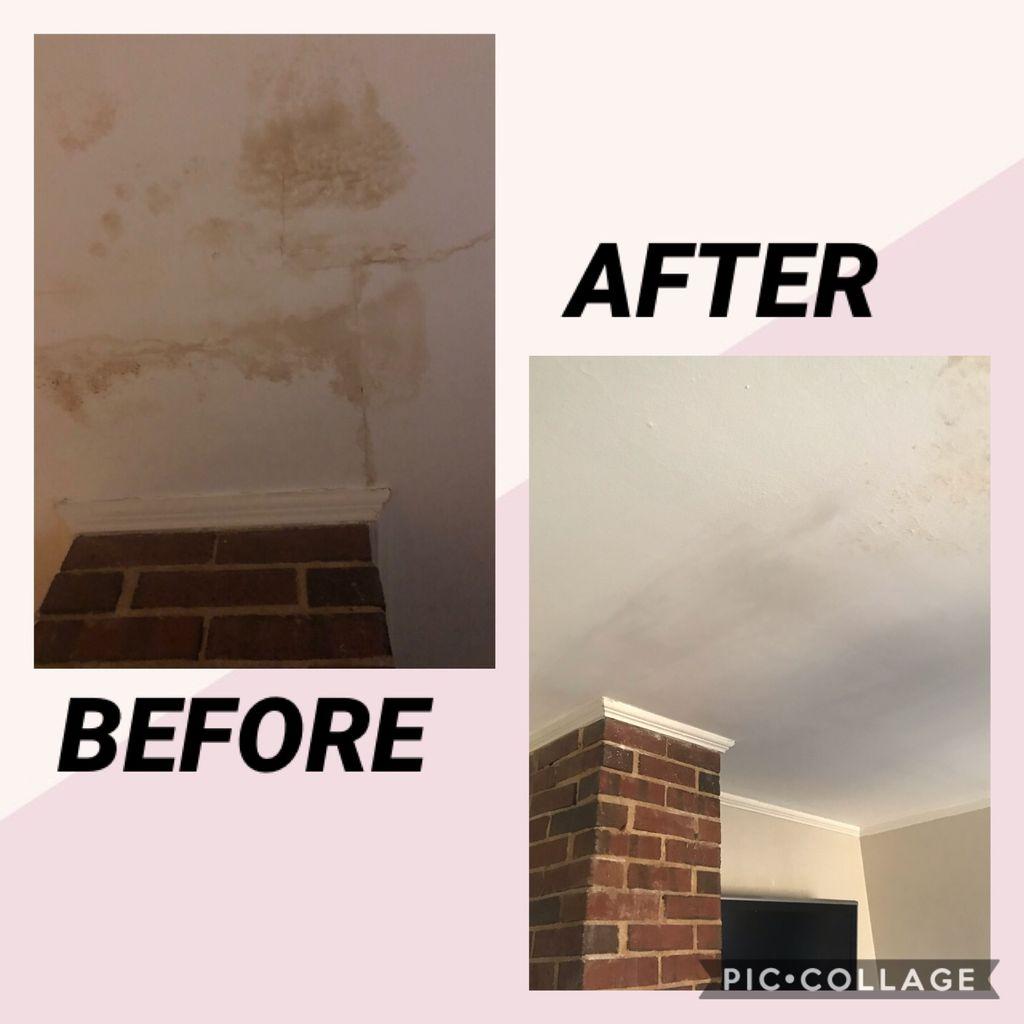 Drywall repair from water damage