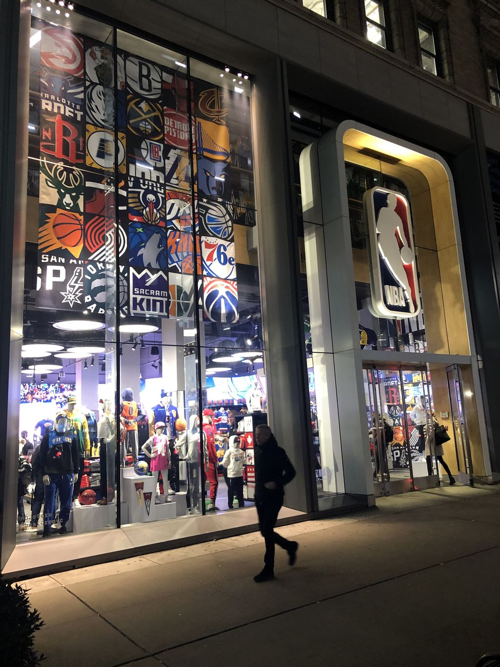 Corporate event at NBA store NYC
