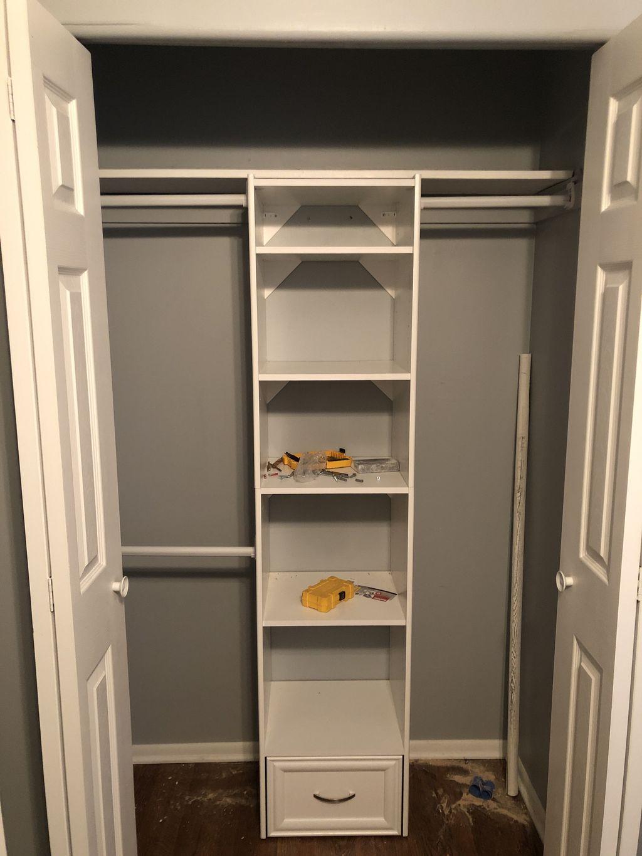 Closet shelving units, a lot of customization