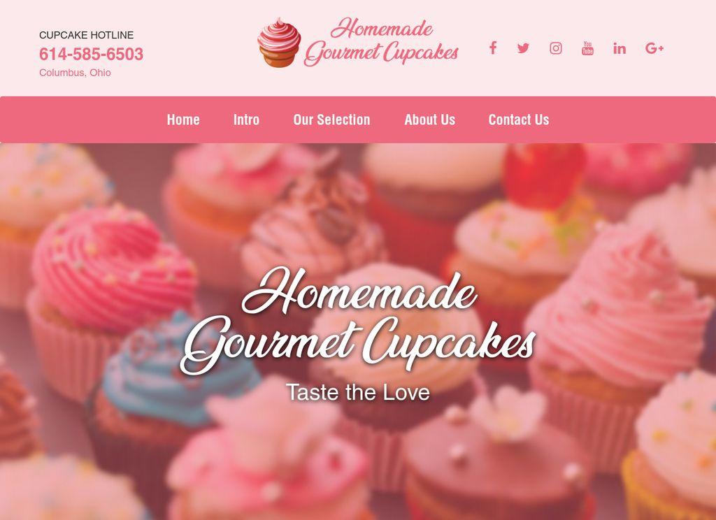 Homemade Gourmet Cupcakes