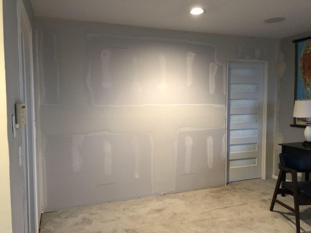 Wall build and door installed
