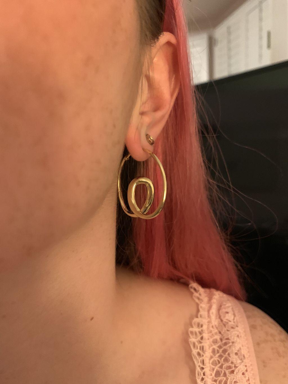 Custom Order Gold Twist Hoops