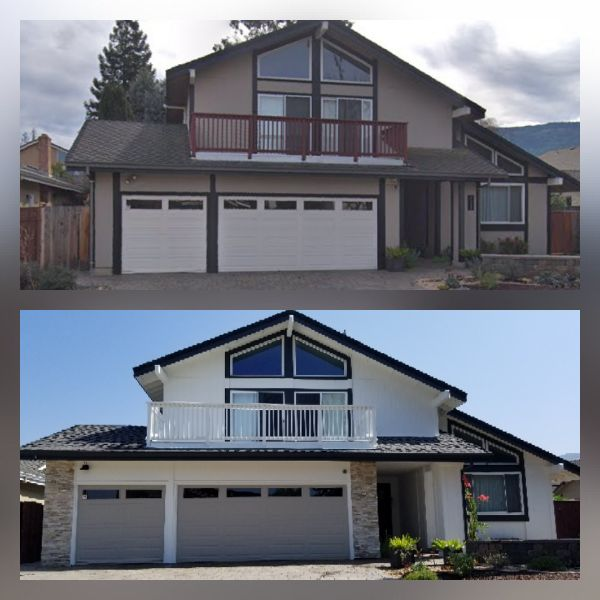 Exterior Painting with natural stone