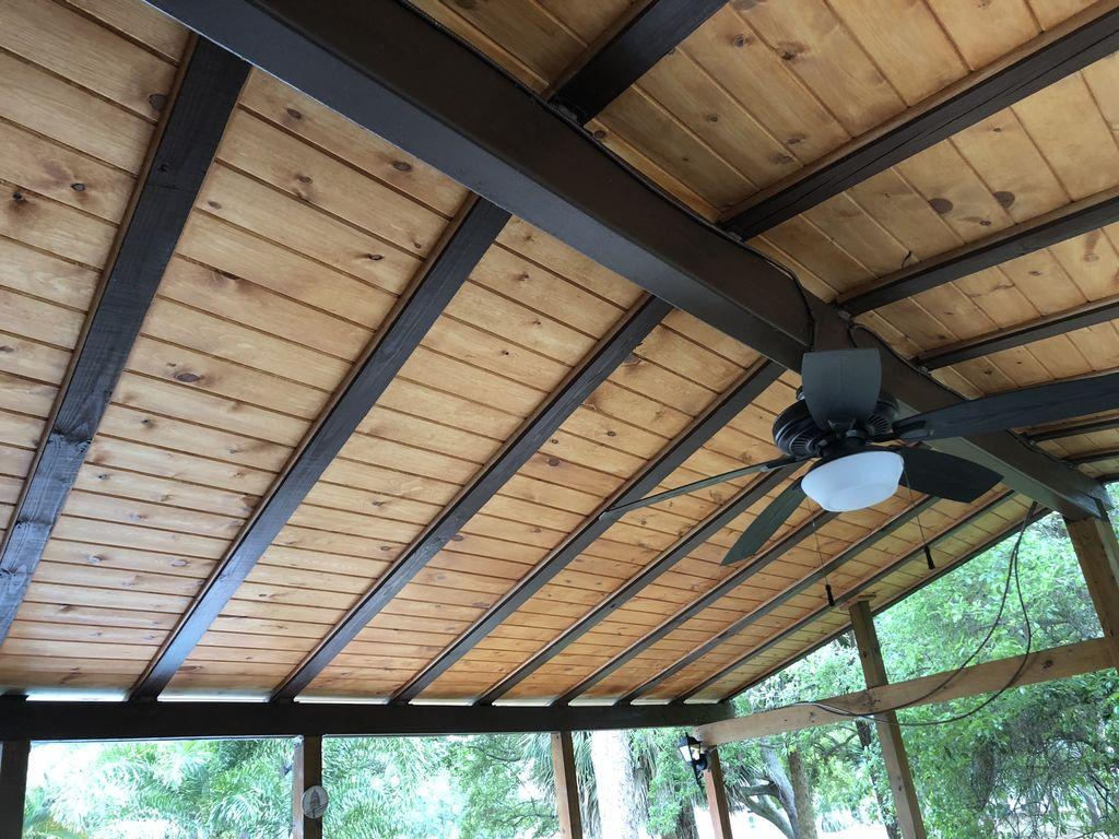 Hardwood Patio Ceiling
