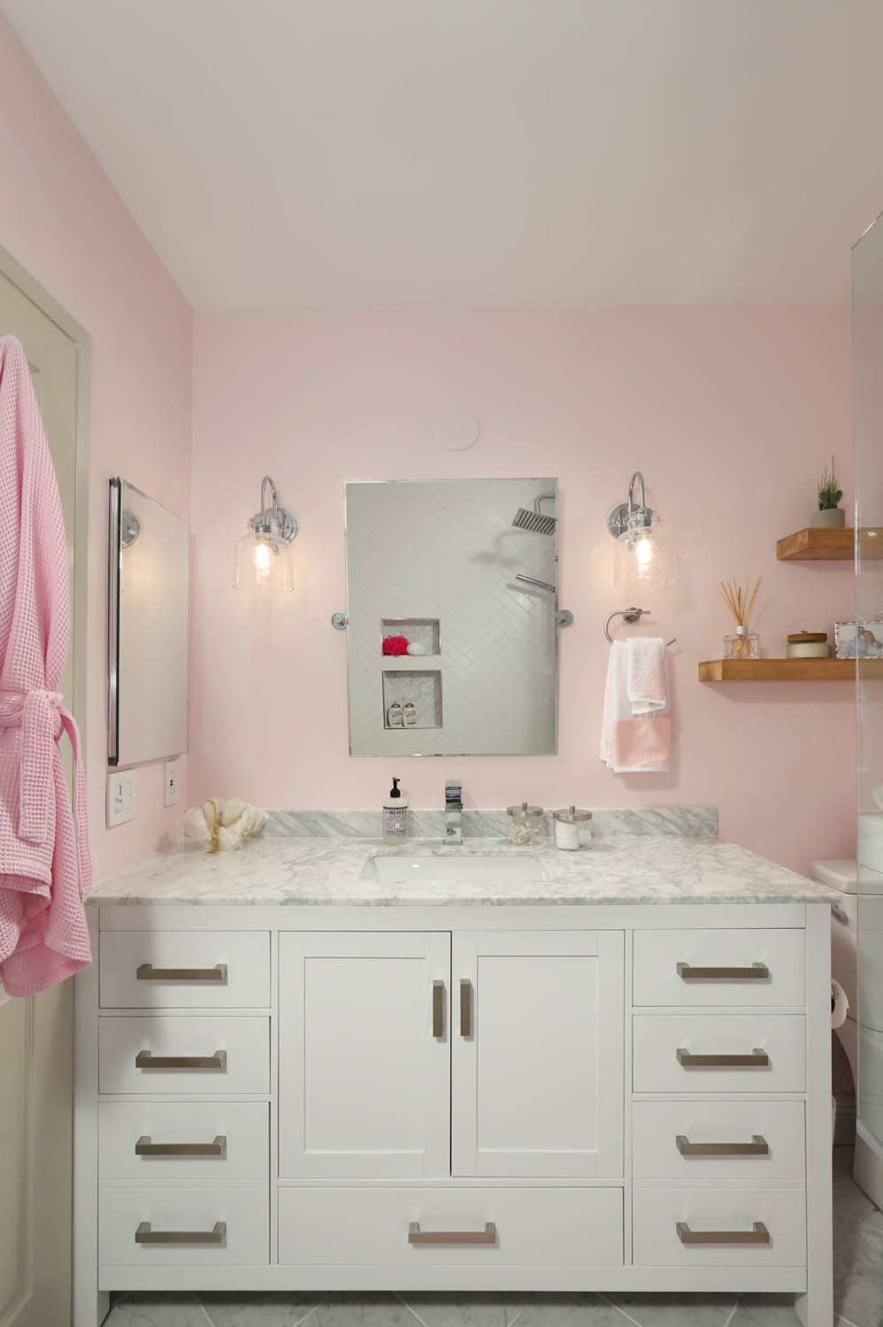 Pretty in Pink - Bathroom Remodel