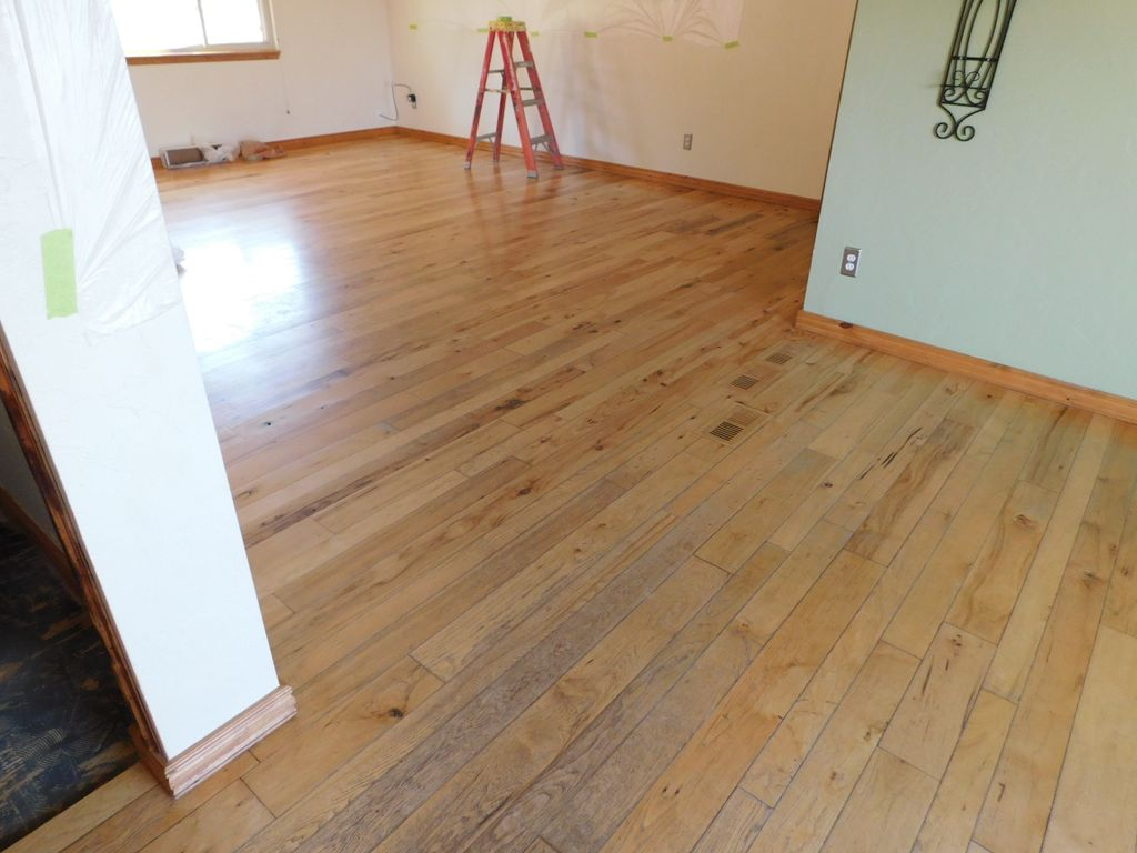 Refinished hickory floor