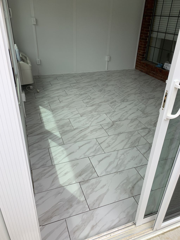 Tile in porch