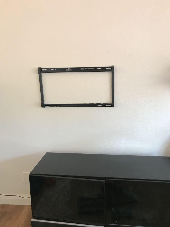 TV Mounting  65 inch screen TV