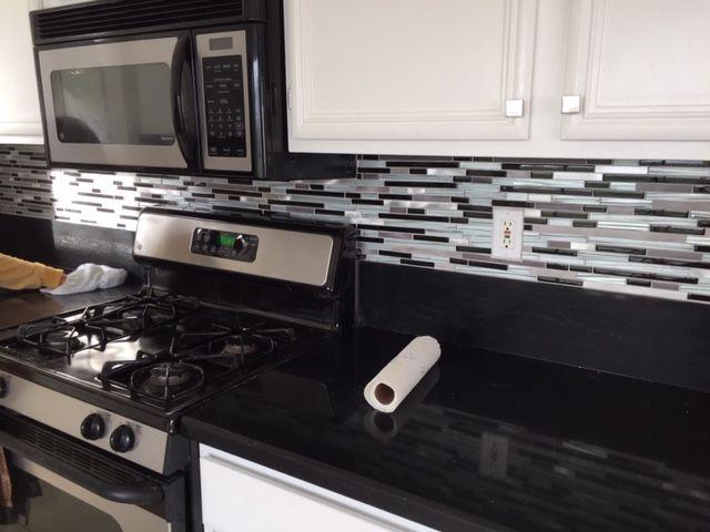 Glass Mosaics Backspash in Kitchen 2