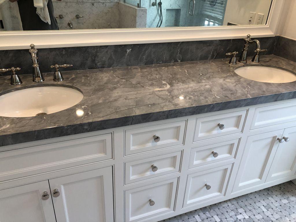 Dual Sink Marble Vanity Top