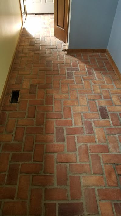 Saltillo Tile clean and seal