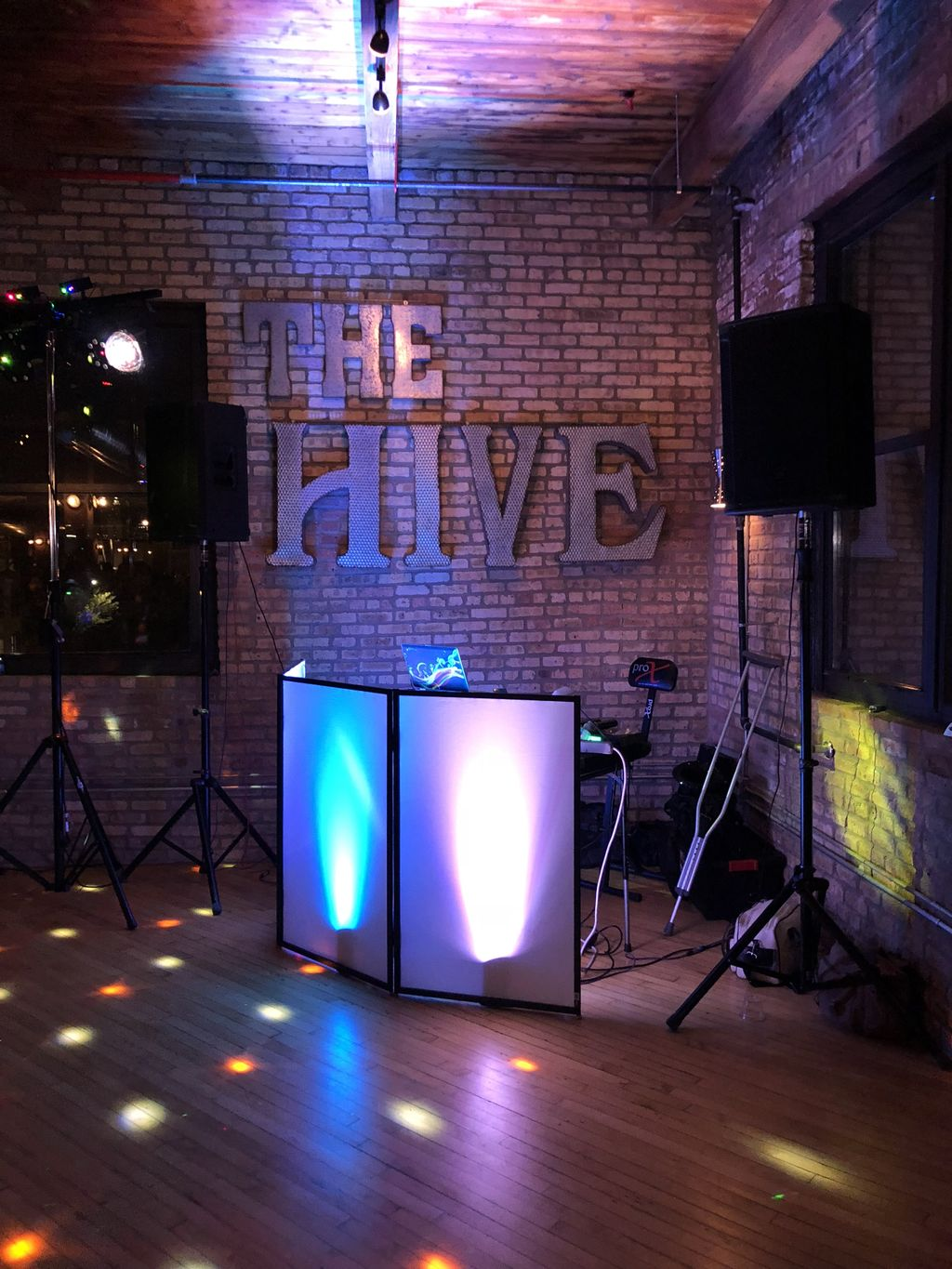 Dj and Photo Booth inside venue