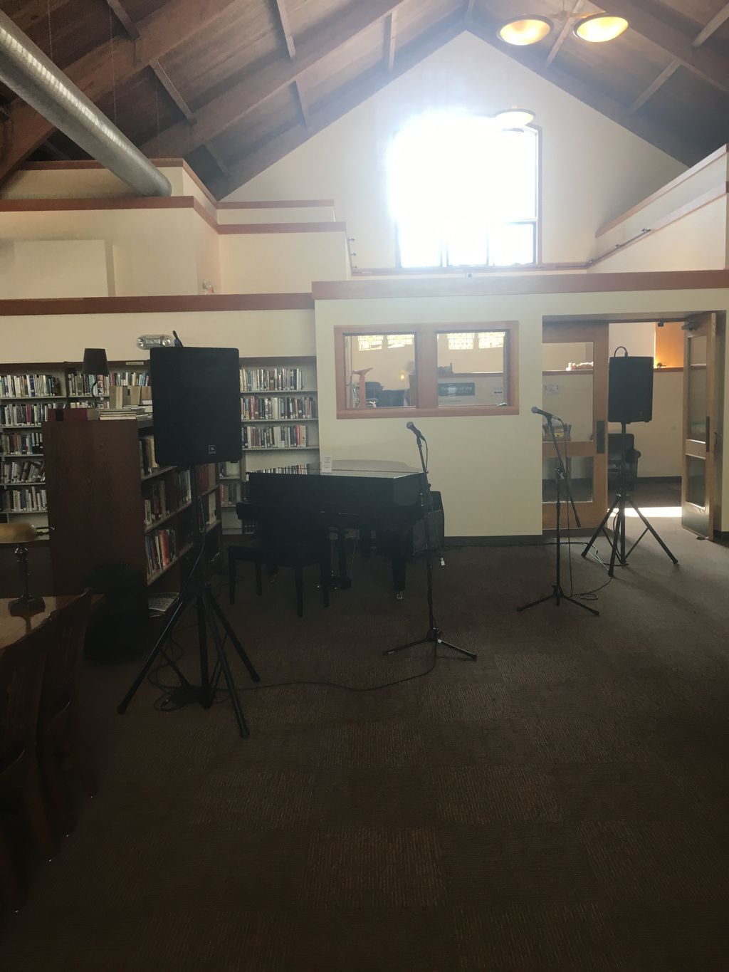 Sound reinforcement rental for jazz band in library