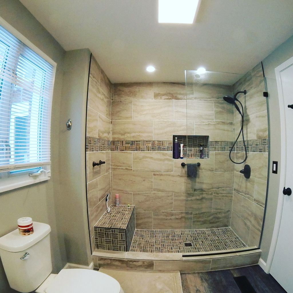 Awesome full gut of small bathroom