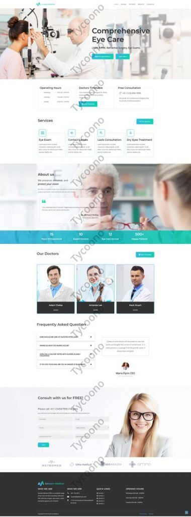 New Web Design for Ophthalmology Practice
