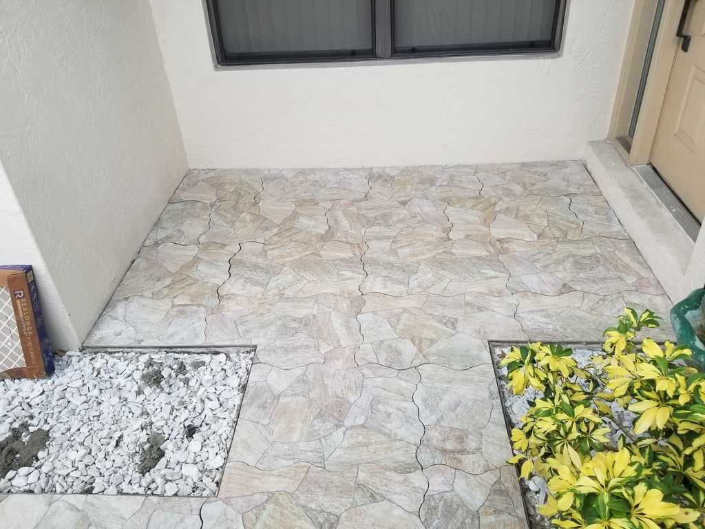 Tile Porch and Walkway