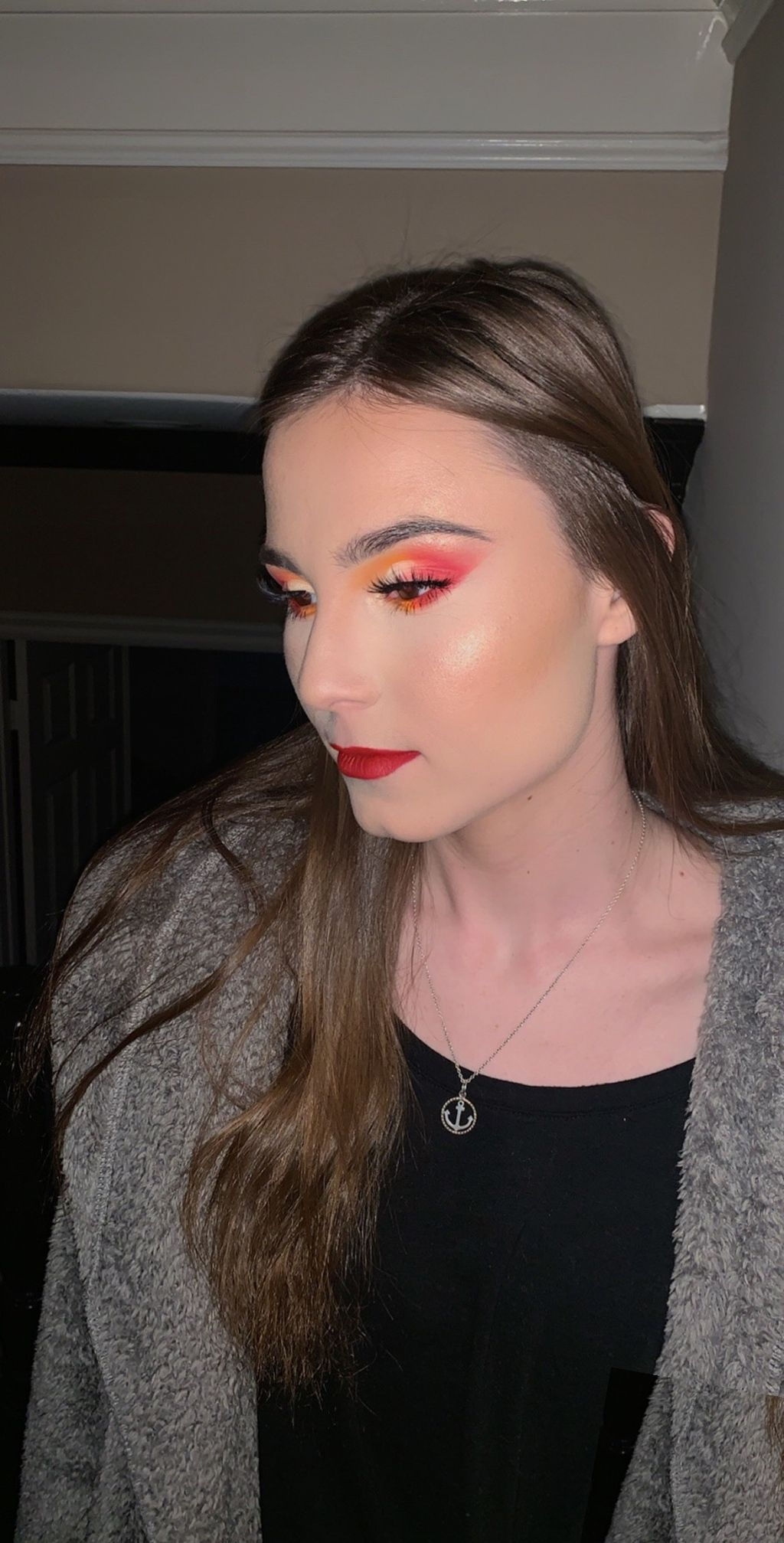 Cherry Red Makeup