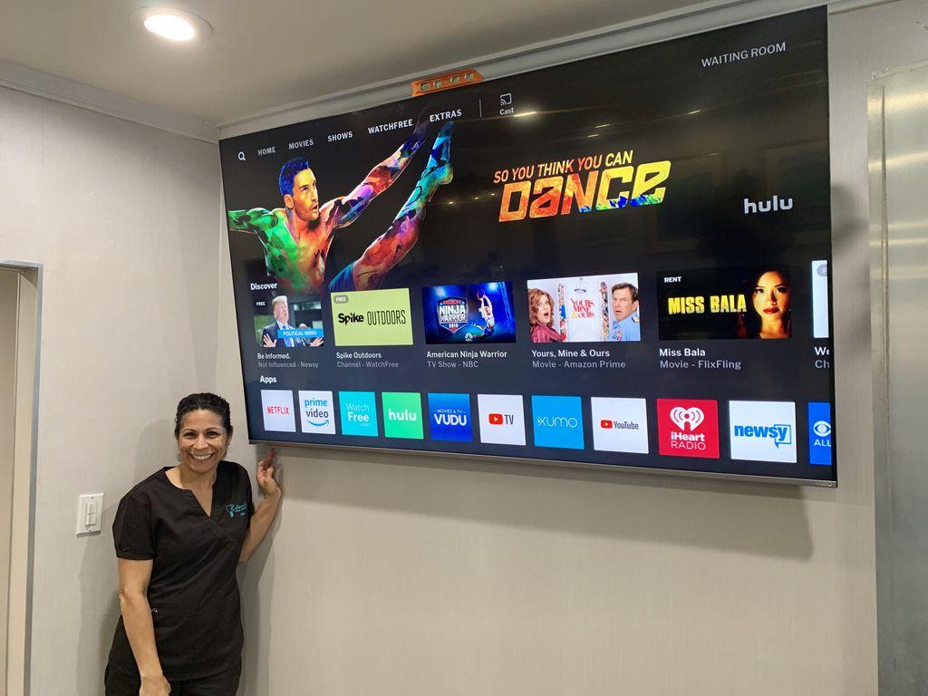 TV Mounting - Dental Office Lobby Redondo Beach 2019