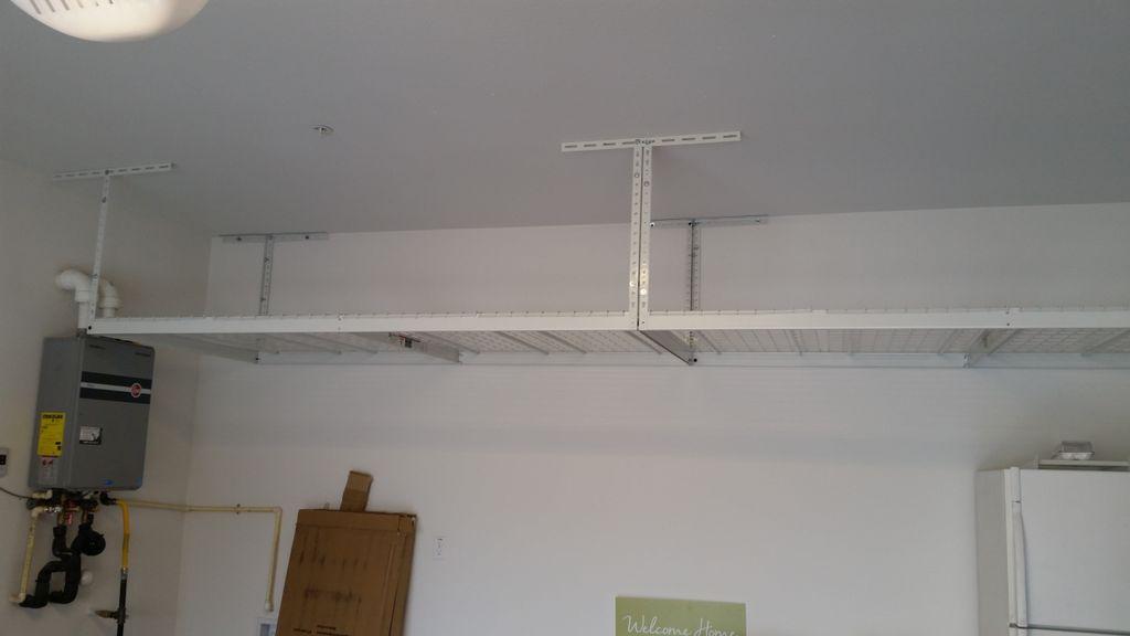 Garage Over head Storage Racks Installation