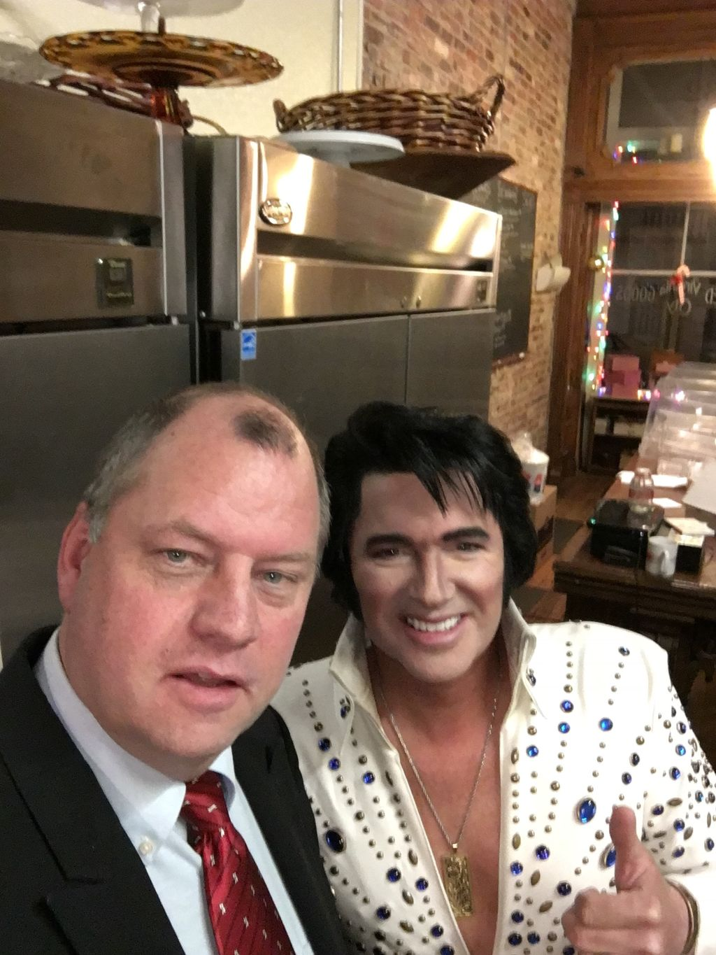 Opened for an Elvis impersonator