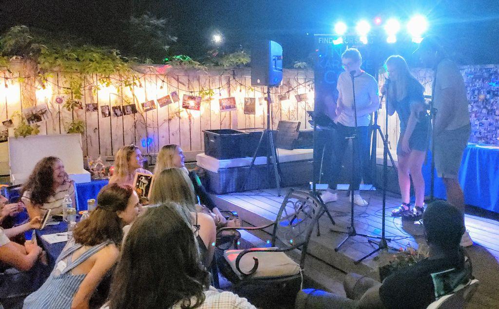 Self-Service Backyard Graduation Party Karaoke