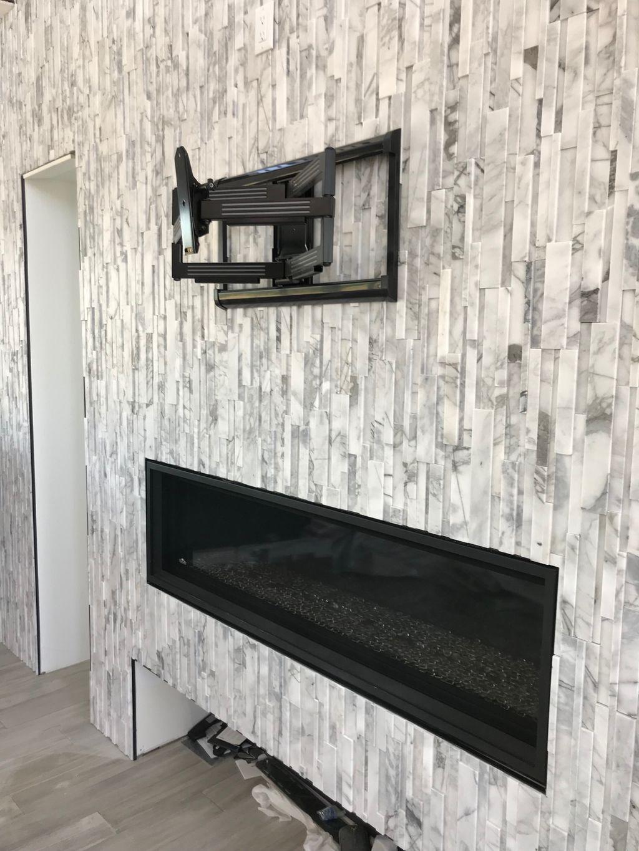 Tile Fireplace Mount
