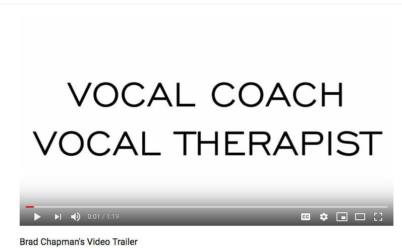 Brad Chapman Vocal Coach PR Video