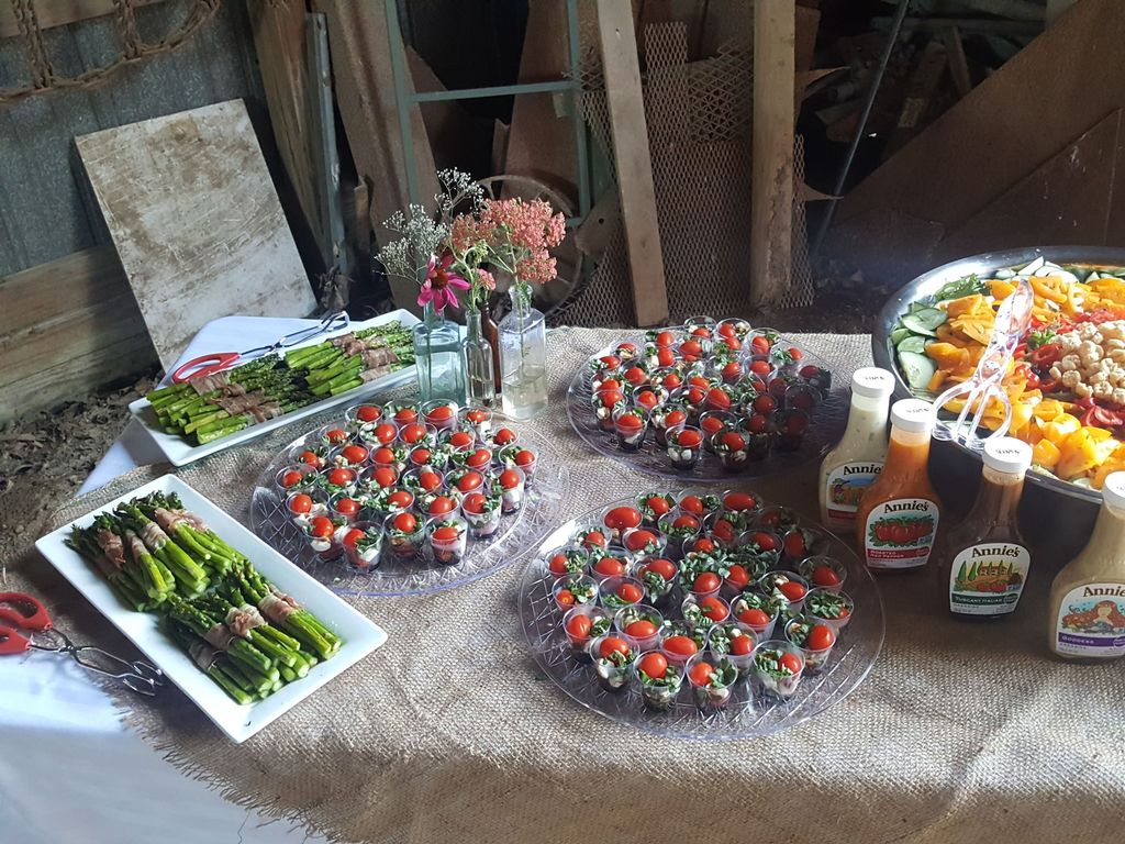 Barn style birthday appetizers