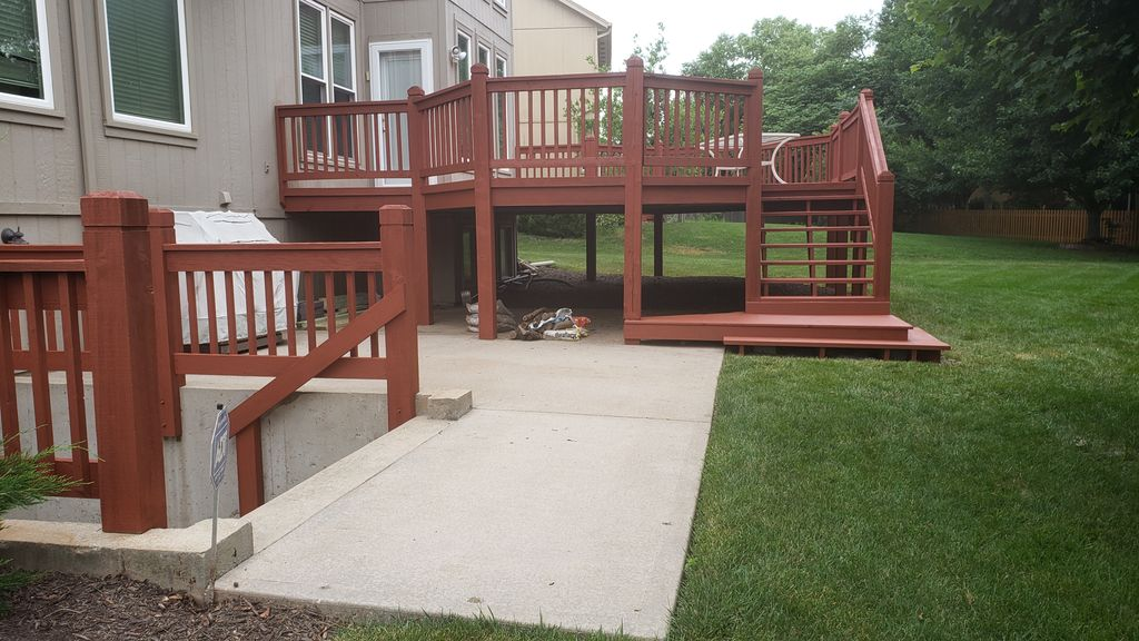 Deck rebuild, clean, and stain