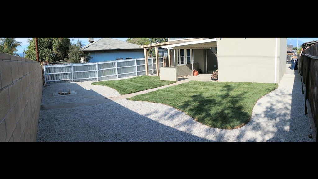 Sod and gravel installation