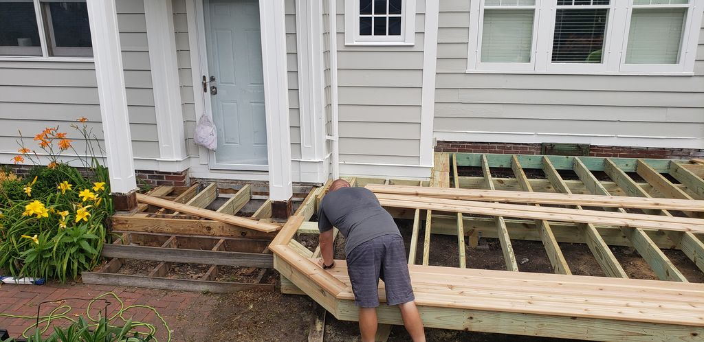 Tear down old build new deck