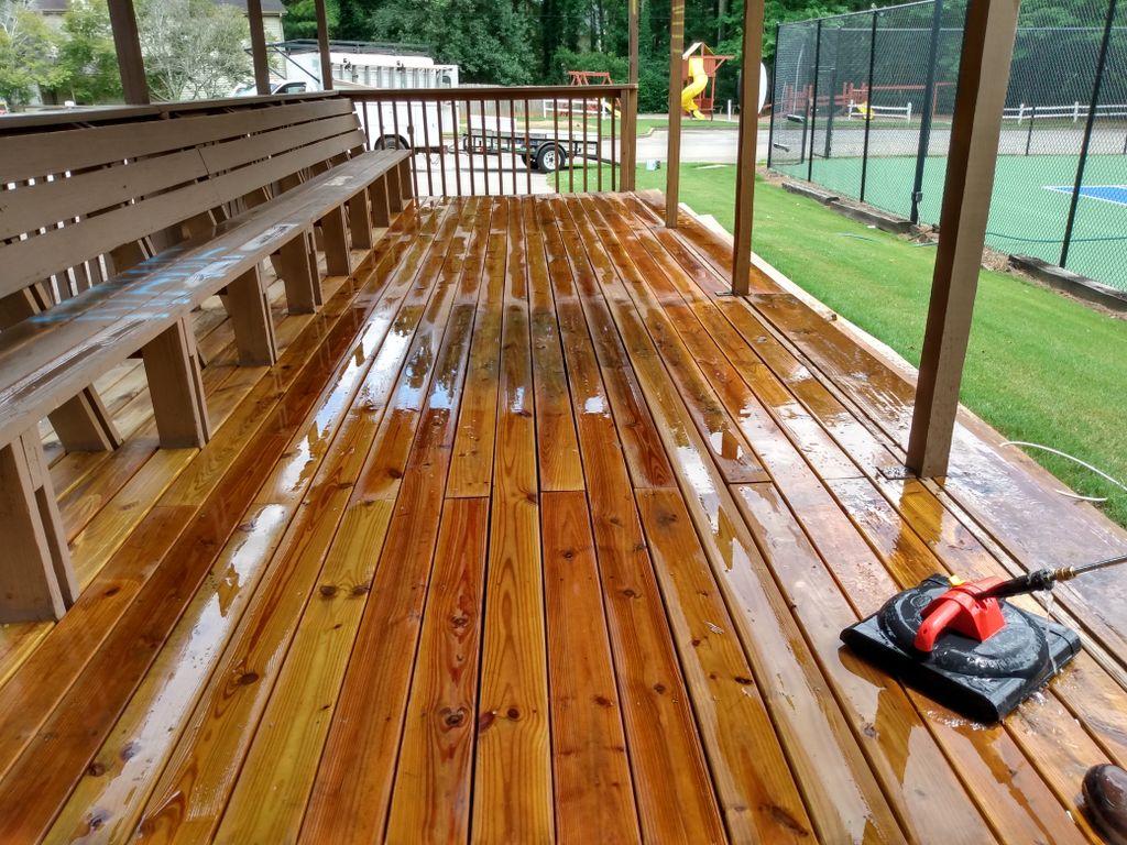 Repair and paint deck