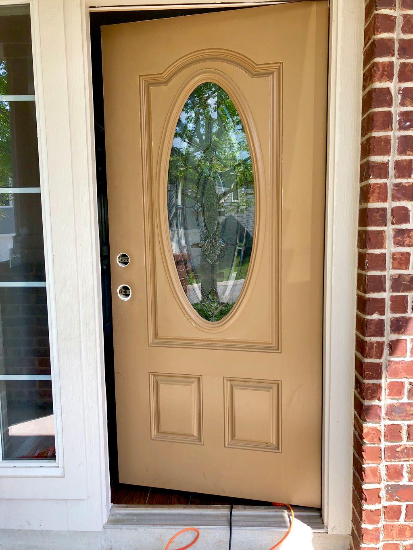 Door handle replacement and paint